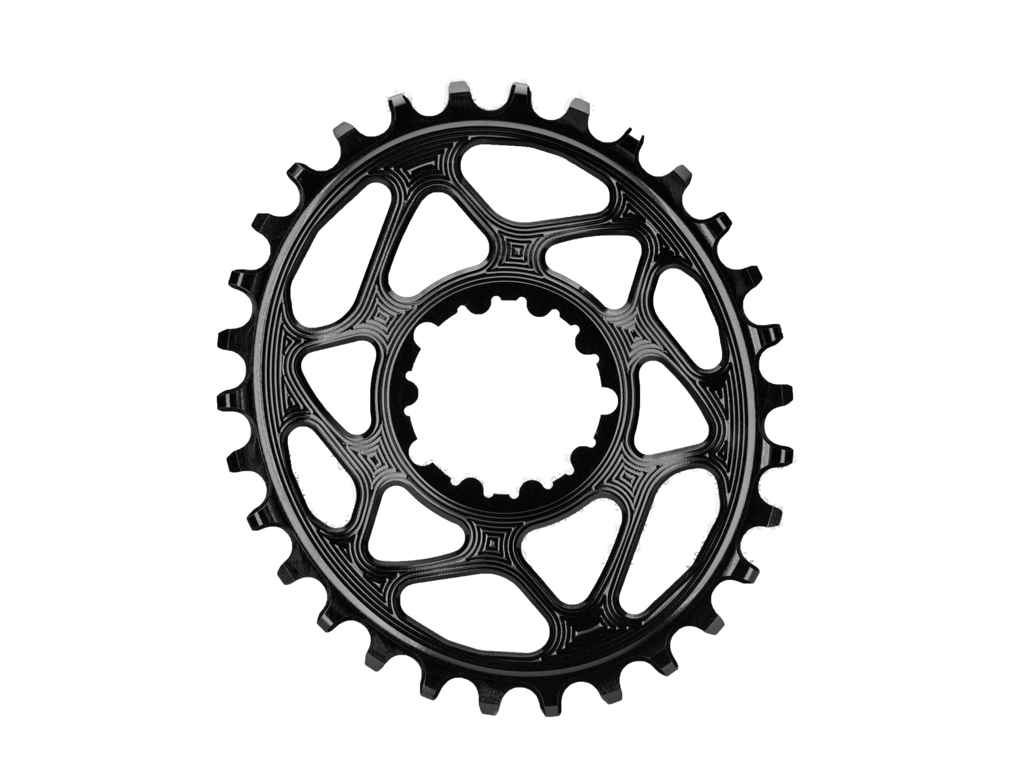 absoluteBLACK Oval klinge - Sram - Direct mount - Boost - Offset 3 mm - 30 tænder - Sort